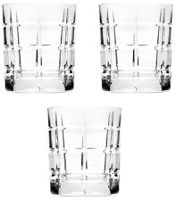 Godinger Radius Set of 3 Double Old Fashioned Glasses, Crystal 8 oz.