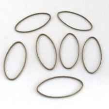 LOT de 20 ANNEAUX JONCTION fermés OVALES 25x10mm bronze SANS NICKEL bijoux