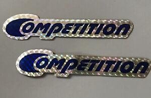 Sting Competition Blue original NOS downtube decals Schwinn BMX stickers