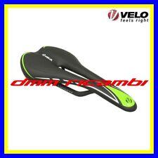 Sella Bici VELO VL1220 Rail Carbonio Strada MTB BDC Sellino Nero/Verde gr.165