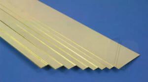 "K&S Metals BRASS STRIP Imperial Range in 12"" lengths Precision Metal"
