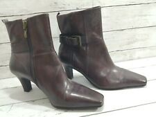 Emotion Ladies Women's Brown Boots, Size 7, With Buckle and Zip