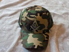 Camouflage Master Mason Baseball Hat Cap Embroidered Square Compass NEW!