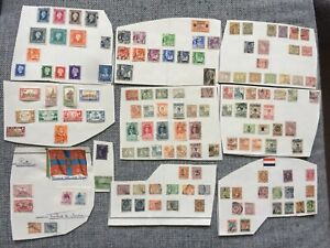 Netherlands India - lot old on pages - MH+used
