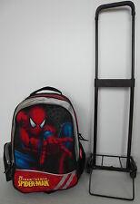 Spiderman Rucksack Reise-Trolley (abnehmbar) Schulranzen Kinderrucksack Tasche