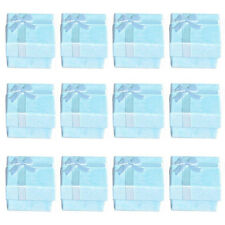 SS 12pcs Blue Cube Jewelry Ring Earrings Bangle Gift Boxes Cutely Small Gift Box