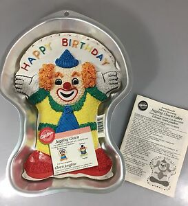 Wilton Juggling Clown Birthday Cake Aluminum Pan 2105-572 Instructions 2000