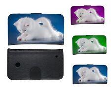 Book Tasche für Handy Design Schutz Hülle Case Cover Schale Motiv Baby- Katze