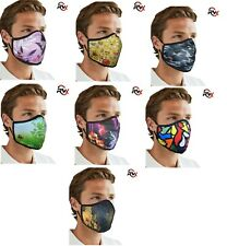 Face Mask Washable Breathable Reusable Adult Mouth Protection Cover Print Design