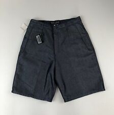 NWT Mens Vtg GUESS Double Button Shiny Blue Denim Shorts Sz 34 NOS Deadstock