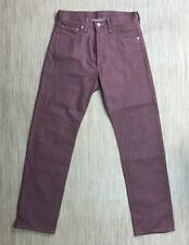 Levi's 501 Maroon Red Denim Jeans Men's Size 30x32 Button Fly Classic Fit