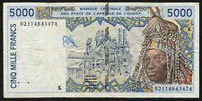 West African States / Senegal 5000 Francs  P.713K (3)