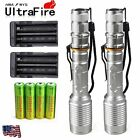 2 Sets 10000 Lumens 5Modes Ultrafire CREE XML T6 LED Flashlight 18650+Charger US