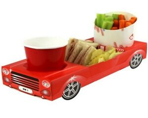 Red Convertible Sports Car - Party Meal Food Trays - Snack Lunch Box Plate Tray