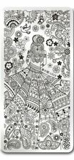Paisley Girl Pattern Design Nail Art Manicure Stamping Image Plate Stencil L019
