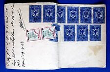 1946  ALBANIA WITH 14 STAMPS TAX STAMP & RED CROSS