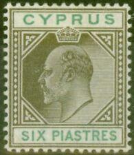 Cyprus 1903 6pi Sepia & Green SG55 Fine Lightly Mtd Mint