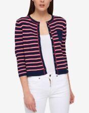 Women's Tommy Hilfiger Striped Boxy Cardigan Navy, Size: XL