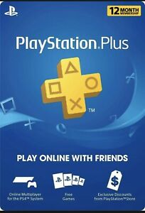 PlayStation Plus 1 Year Membership *WILL BE SHIPPED*