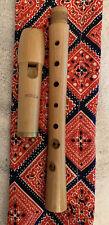 Vintage Moeck TUJU Model 223 Soprano Recorder - Baroque Fingering W/ Cloth Case