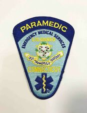 Vintage Connecticut Paramedic EMS Sew Iron On Embroidered Patch