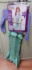 Halloween Costume Little Mermaid Med 8 -10 Years NIB California Costumes 120P
