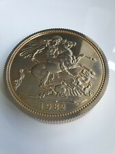 More details for royal mint coin club large 1982 sovereign paper weight