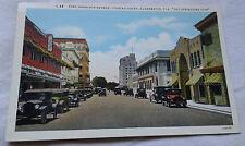 Fort Harrison Avenue Postcard Clearwater, Florida Landmarks VTG
