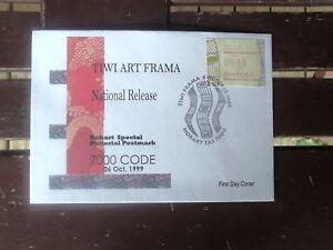 FIRST DAY OF TIWI ART FRAMA HOBART 7000 CODE 45C  FDC LARGE HOBART FDI  PMK