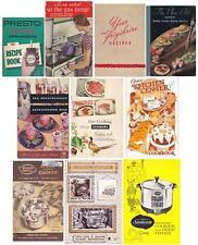 10 Vintage APPLIANCE Recipe Books Presto Frigidaire Sunbeam Kenmore Farberware