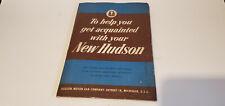Vintage 1950 ? 1951 ? 1952 ? Hudson Owner's Manual w/ Folder and other Documents