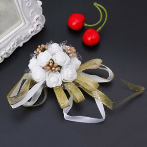 Wrist Corsage Bridesmaid Sisters Hand Flowers For Wedding Dancing Party Decor