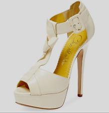 82562602983 CHARLOTTE OLYMPIA Loretta T-Strap Platform Sandals in Off White sz 38.5   1090