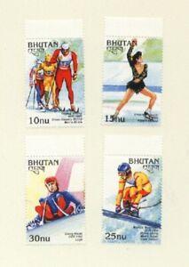 Bhutan 1997 Winter Olympics Set of 4v .