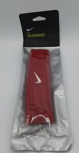 NIKE SWOOSH UNISEX HEADBAND RED WHITE SWOOSH NEW WITH TAG FREE SHIPPING