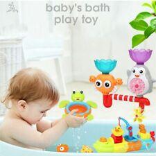 Kids Bath Toy Bathing Water Spraying Tool Cartoon Fountain Suction Cups Shower