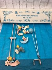 Vintage HandPainted Mobiles By Irmi Angels Mobile Baby Crib Collectible