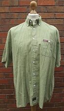 Kickers Short Sleeve Green Check Shirt Size XL