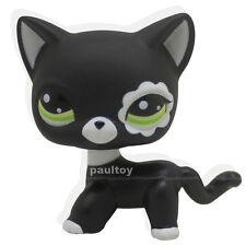 #2249 Littlest Pet Shop RARE Black Short Hair Cat kitty Animal Figure Toy LPS