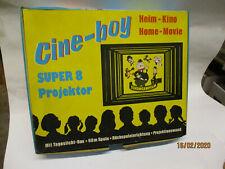 Cine Boy Super 8 Projektor Heimkino  Retro mit 2 Filmen Fuzzy Par und Patterchon