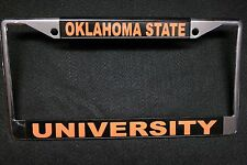 License Plate Frame, CHROMED SOLID METAL-- Oklahoma State University #611022