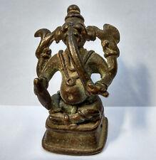 Ancien Ganesh folk en bronze Inde du Nord 18e