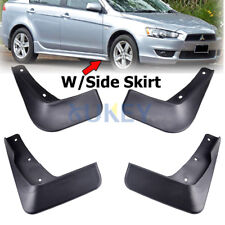 SET FIT FOR MITSUBISHI LANCER GTS EVO 09~11 MUD FLAP FLAPS SPLASH GUARD MUDGUARD