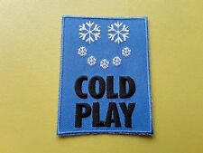 POP, ROCK, PUNK, METAL MUSIC SEW ON & IRON ON PATCH:- COLDPLAY