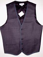 Calvin Klein men's twill plaid streamlined silhouette vest size xxl NWT