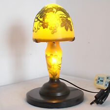 EMILE GALLE TABLE LAMP ART NOUVEAU STYLE - FLOWERS *L956* H: 15.74in/D: 7.08in