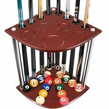 New listing KACSOO Cue Rack Floor Stand Billiard Stick Stand Holds 8 Cues & Ball Set with...