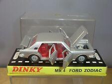 """DINKY TOYS modello No. 164 FORD ZODIAC mk1v """"SILVER VERSION"""" VN MIB"""