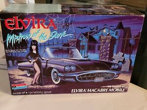 "Original Monogram ""Elvira"" Macabre T-Bird Model Kit Unbuilt 1988."