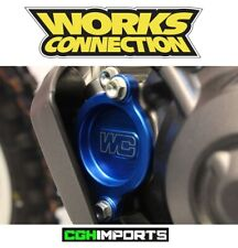 WORKS CONNECTION OIL FILTER COVER BLUE - Honda CRF450R 17 18 19 20 MX CRF 450